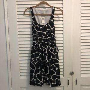 NWT Susana Monaco black and white sleeveless dress